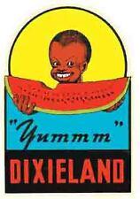 Dixieland  Confederate Black Americana    Vintage  Style Travel Sticker Decal