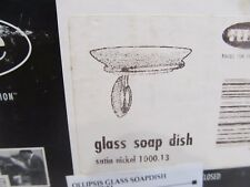 New NIB NOS OLLIPSIS Glass SOAP DISH Bathroom Sink or Shower
