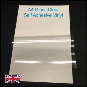 15 sheets A4 clear laminating film self adhesive vinyl sticky back plastic