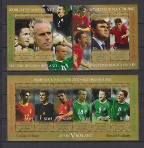 s7358) ANTIGUA & BARBUDA 2002 MNH** WC Football'02 - CM Calcio S/S x3