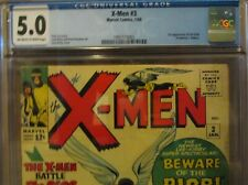 X-MEN #3 CGC 5.0 1st Appearance of the BLOB! STAN LEE Story! 1964