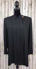 Sonia Rykiel Womens Sz 46 XL 14 Dress Blouse Top Black Formal Tunic Paris France