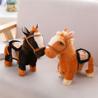 Electronic Pets Walking Horse Pony Musical Singing Toy Plush Doll for kids Gift.