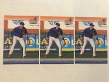 Lot (3) JEFF MCNEIL 2017 St. Lucie Mets team set card very rare Mets All Star!