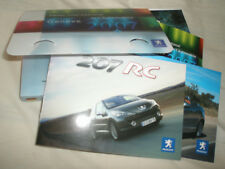 Peugeot 207 RC & CC Press Pack Geneva 2007 brochure German text