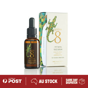 Anti-Aging Golden 8 Complex Crocodile Oil  Soothing Hydrating Face Serum 30ml