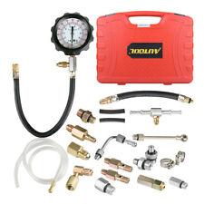 Solimeta Fuel Injection Pump Pressure Gauge Automotive Injector Gasoline Tester Tool Kit,0-140PSI//10 Bar