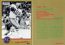 "1992 JOGO CFL ""Missing Years""  Willie Burden  #12A  Calgary Stampeders"