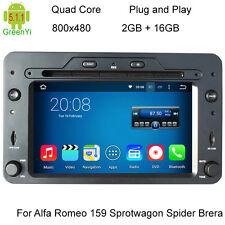 ALFA 159 BRERA AUTORADIO GPS ANDROID 5.1 DVD USB SD MP3 MAPPE WIFI 3G DAB+ OBD2