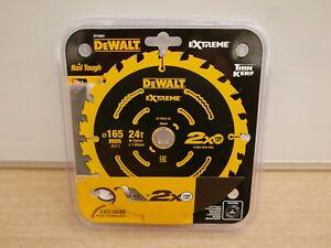 DEWALT DT10624 165MM X 20MM 24T TCT DCS391 CIRCULAR SAW BLADE