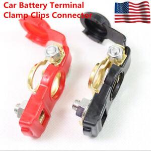 2 US Auto Car Battery Terminal Clamp Clip Connector Adjustable Positive+Nagative