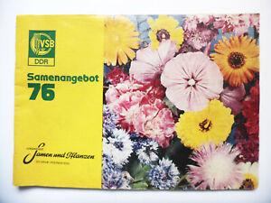 Catalogo Azienda Vendita per Corrispondenza Seme E Piante 1976 DDR Garten Semina