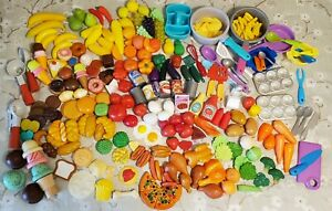 HUGE 6.5# Lot PLAY FOOD Pretend Preschool Homeschool Day Care Pots/Pan REALISTIC