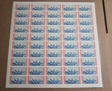 1956 DOMINICAN REPUBLIC OLYMPIC 50 STAMP IMPERORATED  PANE-SWEDISH TEAM-YACHTING