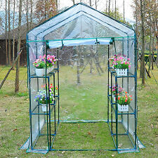 Outsunny 4.7' x 4.7' x 6.4' Walk-in Greenhouse Flower Plants Tunnel Transparent