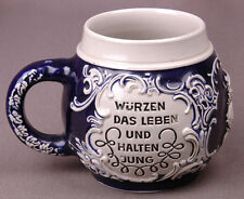 German Beer Stein-Cobalt Blue-4 inches-Made in Germany-Makers Marks on Bottom