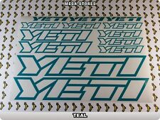 YETI Stickers Decals Bicycles Bikes Cycles Frames Forks Mountain MTB BMX 58MN
