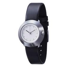 "Normal Timepieces ""Fuji"" Quarzo Acciaio Inox Bianco Pelle Nero Orologio Donna"
