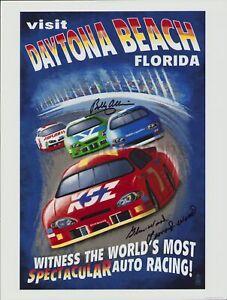 "Daytona 500 - 12x16"" Poster Signed by Bobby Allison and Leonard Wood"