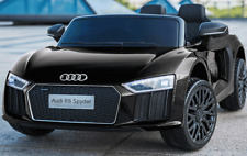 Kinder Elektro Auto Audi R8 Spyder schwarz, EVA, Leder ! Neu & Ovp!!