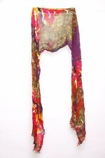 Violet Magenta Forest Green Tangerine Red White & Black Jungle Print Scarf S207