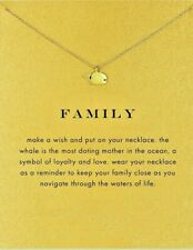 Whale Necklace Family necklace Gold Dipped whale watching with meaning card new