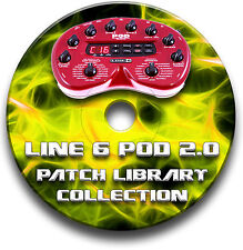 LINE 6 POD 2.0 PRE-PROGRAMMED TONES PATCHES CD OVER 1650! - GUITAR EFFECTS