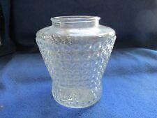 Vintage pressed glass clear translucent light globe teardrop bubble