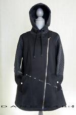 Michael Kors Women's Hooded Quilted Mixed Media Jacket Coat Anorak Plus 2X Black