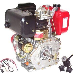 Dieselmotor Motor Standmotor E-Start 418cc 06285 Rüttelplatte Diesel Kleindiesel