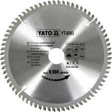 Hm Lame de Scie Circulaire 210 X 30, 72 Dents Tr-F Neg. pour Aluminium, à Métal