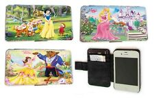 Snow White Belle Aurora leather phone case for Samsung iPhone HTC LG