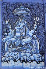 GANESHA GANPATI Tapiz De Pared Colgante hecho a mano batik Pintura Decoración De Yoga Indio