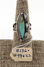 Navajo Sterling Silver Royston Turquoise Ring w/ Original Pawn Tag Size 7.5