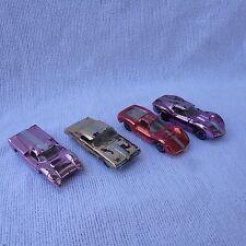 Set of 4 1960's Vintage Aurora Cigar Box Cars Dino Ferrari