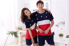 Set of Women Men Stars Sleepwear Pajama Nightwear T-Shirt and Shorts L-2XL