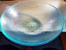 Pottery Barn FRESCA serving bowl Turquoise Outdoor Acrylic New