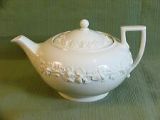 Wedgwood Teapot Grapes on Cream Embossed Queens Ware Vintage