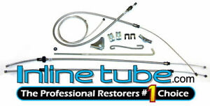 1972-1974  Plymouth Cuda Barracuda E-Body Complete Parking Brake Cable Kit OE