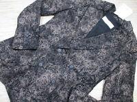 W-20 Maxmara made in Italy Estonia jacket Blazer BLACK BROCADE size 2 new $1495