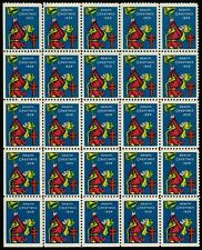 1929 WX50 Ringing Bell/Health Block of 25 US Christmas Holiday Seals OG MNH VF