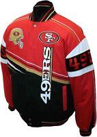 NFL MEN'S SAN FRANCISCO FORTY NINERS 49ers MEMORABILIA TWILL JACKET BRAND NEW!!!