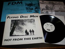"""Flying Disc Men """"Not From This Earth"""" LP Jelly Records – Jelly 003 Germany 1988"""