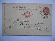 Entier postal Humbert I 10 - Italie