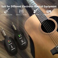 LEKATO UHF A8 Wireless Guitar Audio System Wireless Transmitter & Receiver Black