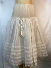 Vintage1960's Francine Lingerie Petticoat Pleated Sheer Slip Size Small