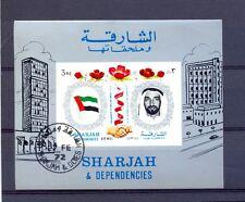 Sharjah 1971 Proclamation of UAE 3R miniature sheet grey flag used