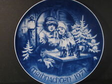 Bareuther Bavaria  Germany CHRISTMAS 1971 Annual Plate