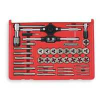 Tap and Die Set,40 pc,Carbon Steel VERMONT AMERICAN 21749