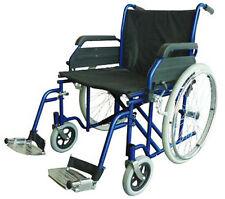 MLE Bariatric Dark Blue Wheelchair High Quality Steel Frame - Making Life Easy